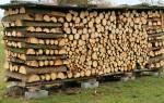 Как хранить дрова на дачном участке?