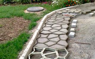 Как сделать бетонную дорожку на даче?
