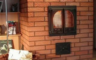 Чем облицевать печь из кирпича на даче?