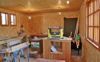 Как оборудовать мастерскую на даче?
