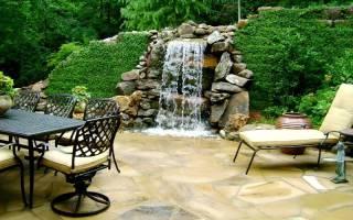Как построить водопад на даче?