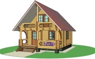 Дачный домик совмещенный с баней