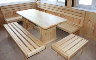 Дачная мебель своими руками из подручных материалов