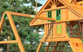 Как самому сделать детскую площадку на даче?