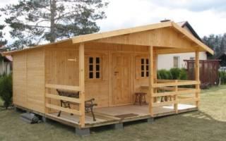 Как построить дачный щитовой домик?