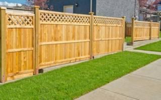 Как самому сделать забор на даче?